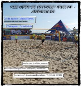 Open de futvoley en Matalascañas y Punta Umbría.