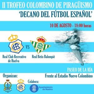 Cartel del II Trofeo Colombino de piragüismo.