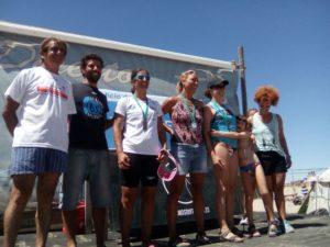 Nadadores del CD Máster Huelva.