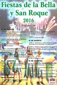 Programa Fiestas de la Bella 2016