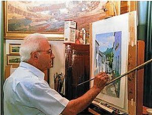 alcaide pintando
