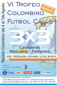 Cartel del Trofeo Colombino de fútbol calle.