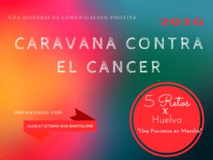 Caravana contra el cáncer del Club Atletismo San Bartolomé.