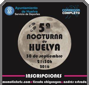Cartel de la V Carrera Nocturna en Huelva.