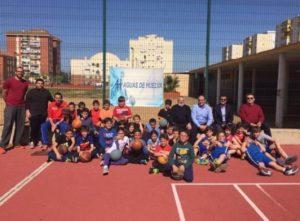 Aguas de Huelva con la cantera del CDB Enrique Benítez.