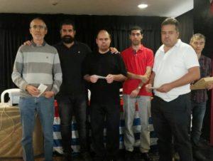 Ganadores del Open de Ajedrez en Cartaya.