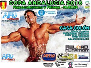 Cartel de la Copa de Andalucía de Fisicoculturismo y Fitness.