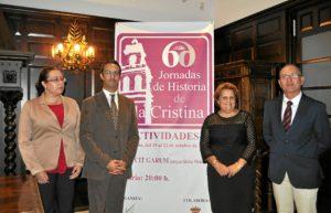 De derecha a izquierda, Vicente lopez, Antonia grao, Agustin P Figuereo y Aurora Lozano en el acto de clausura de las jornadas