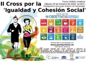 Cartel del Cross por la Igualdad y Cohesion Social en Punta Umbría.