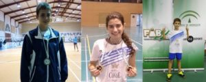 Jugadores del CD Bádminton Huelva.