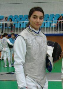 María Haba, tiradora del Club Esgrima Huelva.