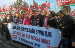 Pedro Jimenez en concentracion de apoyo a Damian Garcia