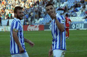 Rubén Mesa celebrando el gol.