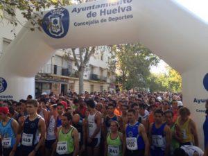 Salida de la Vuelta a Huelva.