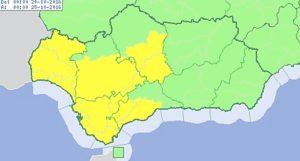 alerta amarilla lluvia Huelva