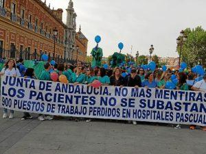 manifestacion trabajadores empresas pascual en sevilla (2)