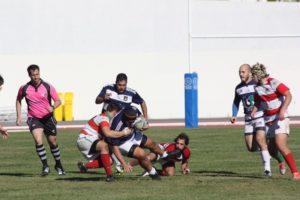 Partido del Bifesa Tartessos de rugby.