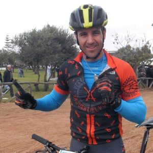 Alejo Delgado, ciclista sanjuanero.