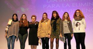Antonia Grao y Gema Gutierrez con las participantes