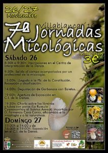 Cartel Jornadas Micologicas 26 nov