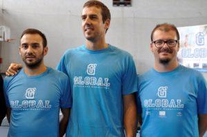Jugadores del Conservas Lola de tenis de mesa.