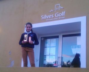 Laura López, golfista onubense.