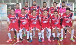 Equipo de fútbol sala del Smurfit Kappa de La Palma.