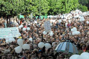 Imagen de archivo de la protesta convocada 'Por una sanidad digna'.