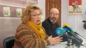 Monica Rossi y Pedro Jimenez, concejales IU Ayuntamiento de Huelva