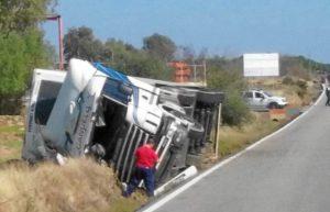 imagen del accidente la carretera a el cerro de andevalo