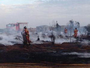 incendio chabolas inmigrantes en lepe