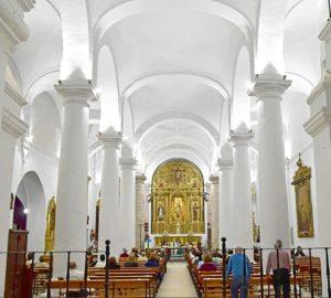 nuevo alumbrado iglesia de zalamea la real