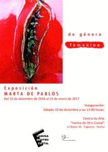 CARTEL DE GENERO FEMENINO TRIGUEROS 2016