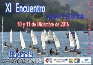 Cartel del Encuentro de vela en Isla Canela.