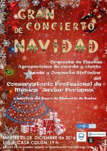 Cartel concierto de Navidad Banco Alimentos