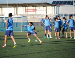 Entrenamiento del Cajasol Sporting.