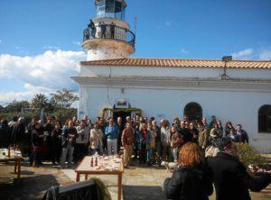 Vecinos de El Rompido reclamando cultura en el Faro