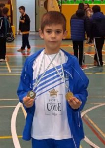 Guillermo Nuviala, joven jugador de bádminton.