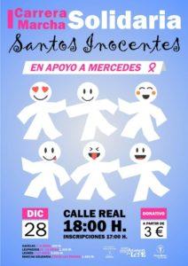 Cartel de la I Carrera de los Santos Inocentes en Lepe.
