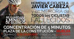 cartel apoyo a Javier Cabezas, ciclista atropellado