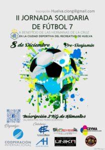Cartel de la Jornada Solidaria de fútbol 7.