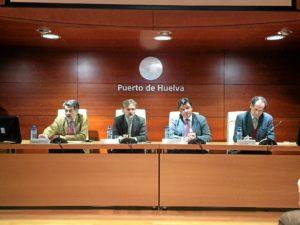 jornadas cambio climatico puerto huelva con consejero de medio ambiente (1)