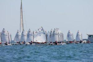 Torneo de óptimist en Palma de Mallorca.