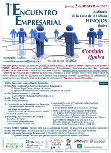 Cartel Encuentro Empresarial Condado Huelva Promocion