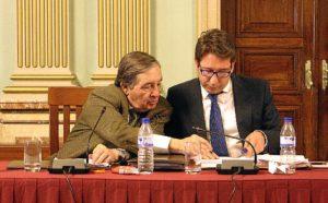 Concejales de Ciudadanos en el pleno de febrero en Huelva