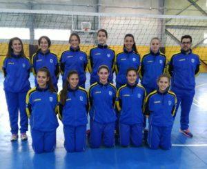 Selección femenina cadete de voleibol.