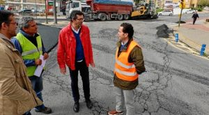 Vista a las obras asfaltado concejal Luis Albillo