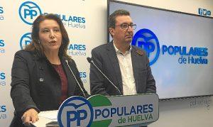 Carmen Crespo en el PP de Huelva