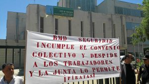 Protesta por despidos en RMD Seguridad (2)