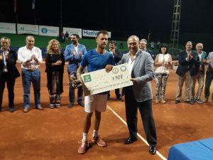 Ricardo Ojeda, subcampeón de la Copa del Rey de tenis.
